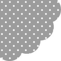 Szalvéta kerek PAW R Dots Grey