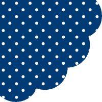 Szalvéta kerek PAW R Dots  Dark Blue