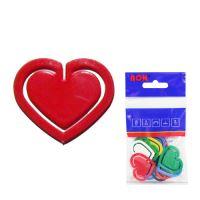 Műanyag műanyag klipek 651, szív, 30 mm (10db)