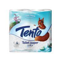 Toalettpapír Tento Cool Aqua, 3-rétegű/21 m, 4db/csomag