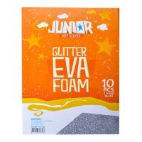 Dekorlap habosított A4 EVA 10 db ezüst vastagsága 2,0 mm glitter
