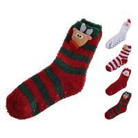 Ponožky - vianočné s postavičkou 38/39, mix/1 pár