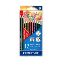 """Farebné ceruzky, šesťhranné, STAEDTLER """"Noris Colour"""", 10+2 rôznych farieb"""