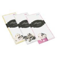 Jegyzettömb, mágneses, nyomott lapokkal 80x180 mm - Dog & Cat Design