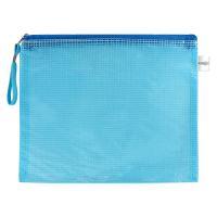 Irattasak hálós zipzáras PVC/A4, kék
