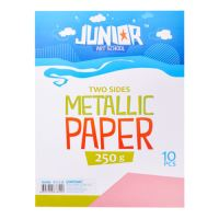 Dekor karton  A4 10 db rózsaszín metallic 250 g