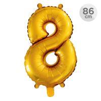 Számlufi szülinapra 86 cm - 8, arany
