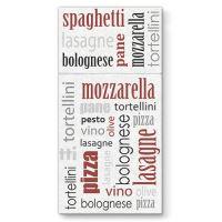 Vrecká na príbory PAW AIRLAID 40x40cm Italian Food Bordeaux, 25 ks/bal