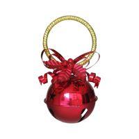 Függő karácsonyi  dekoráció - piros 10 cm, 1db