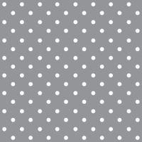 Szalvéta PAW L 33x33cm Dots Grey