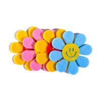 Dekoráció  filc virágok mix szín 4 db