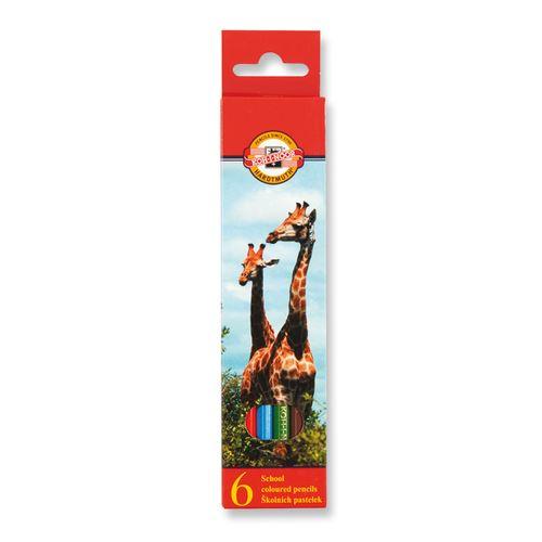 Színes ceruzák KOH-I-NOOR hatszögletű, 6 db készlet