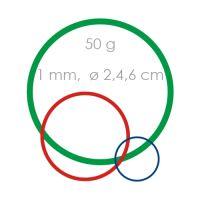 Gumi mix gyenge /1 mm, O 2, 4, 6 cm /50 g/