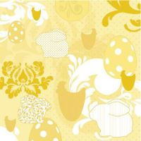 Szalvéta PAW L 33x33cm Easter Patchwork Yellow