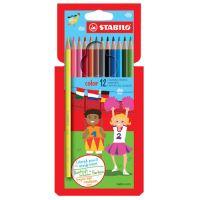 Színes ceruzák, hatdimenziós, STABILO, 12 különböző szín