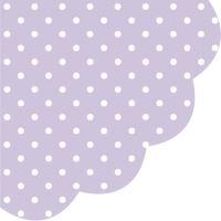 Szalvéta kerek PAW R 32 cm Dots Violet