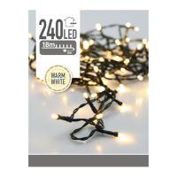 Vianočné mikrožiarovky LED 240 8 mm - teplá biela, 21 m