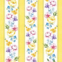 Papír szalvéta PAW L 33x33cm Vernal Flowers yellow