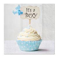 Szalvéta PAW L 33X33 cm Blue Cupcake