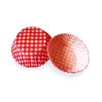 Süteményes papírkapszli KARO piros O 50 x 30 mm [40 db]