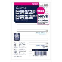 Náplň do diára Filofax 2020 Kalendár, vrecková/týždenná