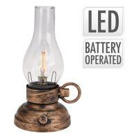 Lampáš s LED žiarovkou - teplá biela 20 cm, 1ks