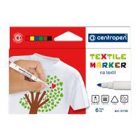 CENTROPEN 2739 Textil Marker - 6 darab készlet