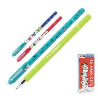 Zselés roller/törölhető  M&G iErase So Many Cats Pencil 0.5 mm,kék