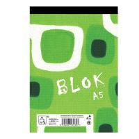 Blok A5 pozn. EKO 50l. šitý - štvor štvorčekový / 50 listov