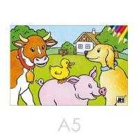 Kifestő JM A4 hází állatok