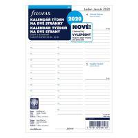 Náplň do diára Filofax 2020 Kalendár A5, týždenná