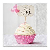 Szalvéta PAW L 33X33 cm Pink Cupcake