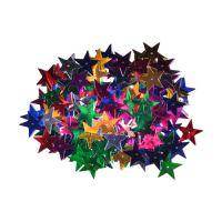 Dekoráció  csillagok mix szín 25 mm 14 g