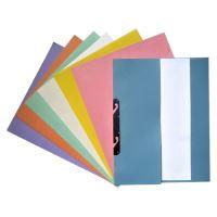Gyorsfűző, lefűzhető, karton, A4 feles, rózsaszín