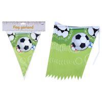 Plastová reťaz Football - párty vlajka, 1ks