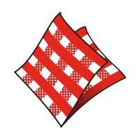 Szalvéta 1-rétegű, 33 x 33 cm kockás piros 100 db