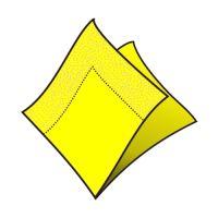 Szalvéta 2-rétegű, 33 x 33 cm sárga [50 db]