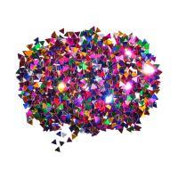 Dekoráció  háromszögek mix szín 6 mm 14 g