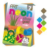 Színes papír blok - rajzlap ART CARTON NEON A4 250g /7db/ vegyes 7 szín