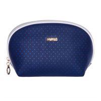Kozmetická taška Blue Triangles - guľatá