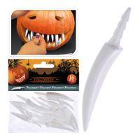 Dekorácia - umelé zuby do tekvice, set 16ks
