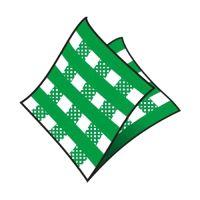 Szalvéta 1-rétegű, 33 x 33 cm kockás zöld [100 db]