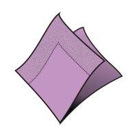 Obrúsky 2-vrstvé 33 x 33 cm  sv.fialové 50 ks