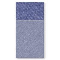 Vrecká na príbory PAW AIRLAID 40x40cm Bamberg Dark Blue, 25 ks/bal