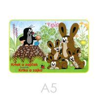 Omaľovánka A5 Akim - Krtko a zajko