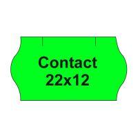 Árazógépszalag CONTACT 22x12 -1500 címke/tekercs, zöld