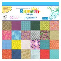 Dekor papír  - 24 lapos, 30x30 cm - Summer Collection