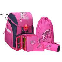 Školská taška - 5-dielny set, PRO LIGHT Horse, LED
