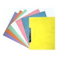 Gyorsfűző, karton, fémszerkezettel, sárga