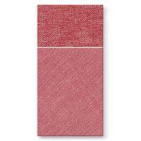 Vrecká na príbory PAW AIRLAID 40x40cm Bamberg Red, 25 ks/bal